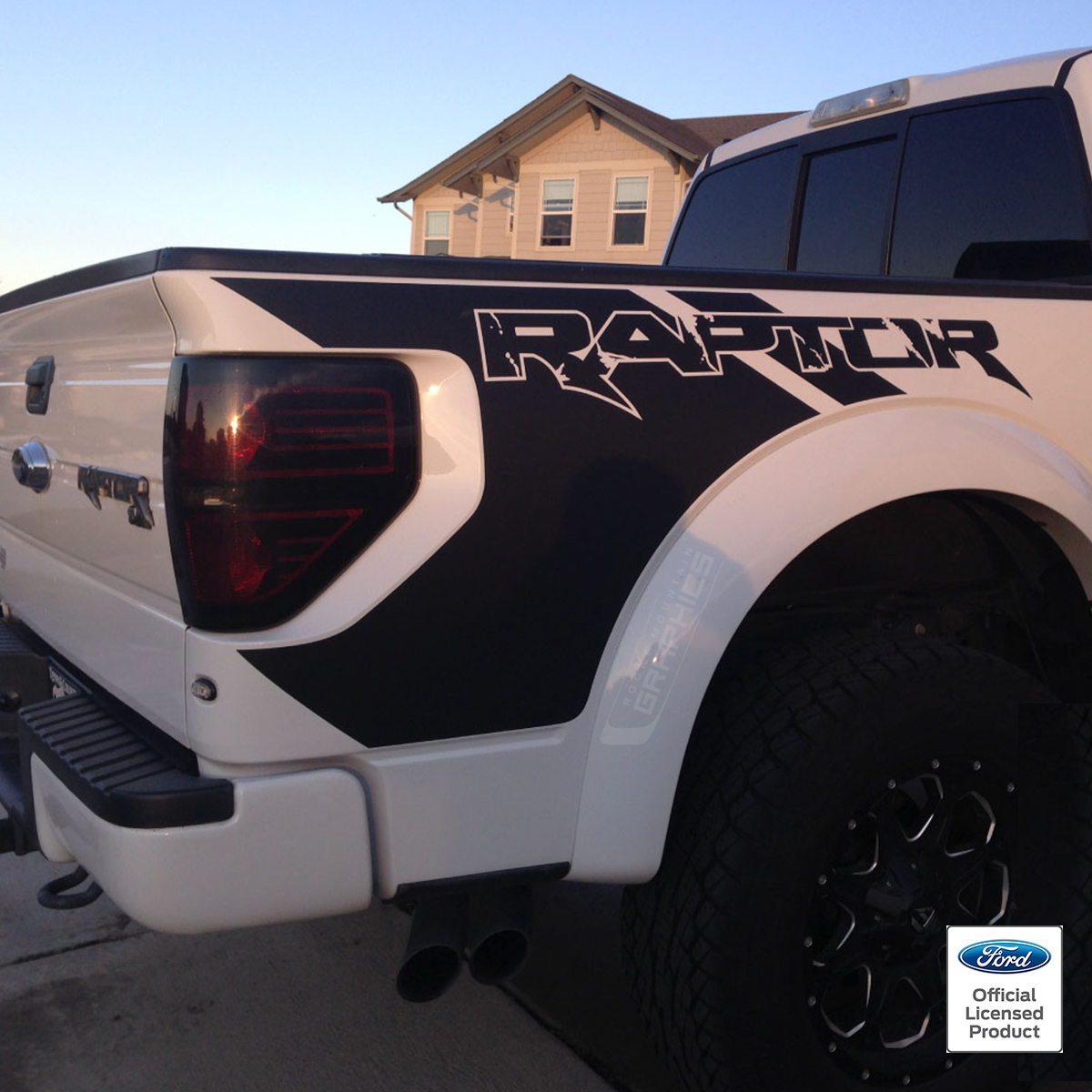 raptor ford graphics decals side graphic bed