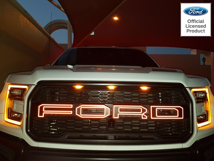 Ford Raptor For Sale >> 2017+ Reflective Ford Raptor Grill Letter Outlines - Rocky ...