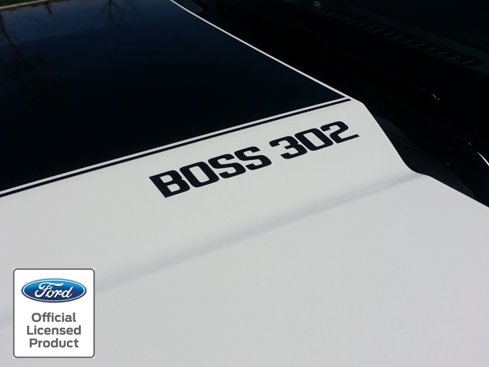 Dodge Ice Charger >> Mustang Boss 302 Hood Decals - Rocky Mountain Graphics