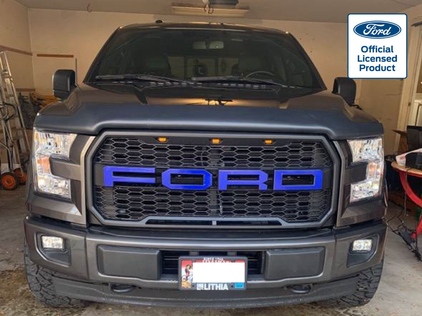 2015-17 Ford F-150 Paramount Raptor Style Aftermarket Grille Letters Vinyl Decal – 1