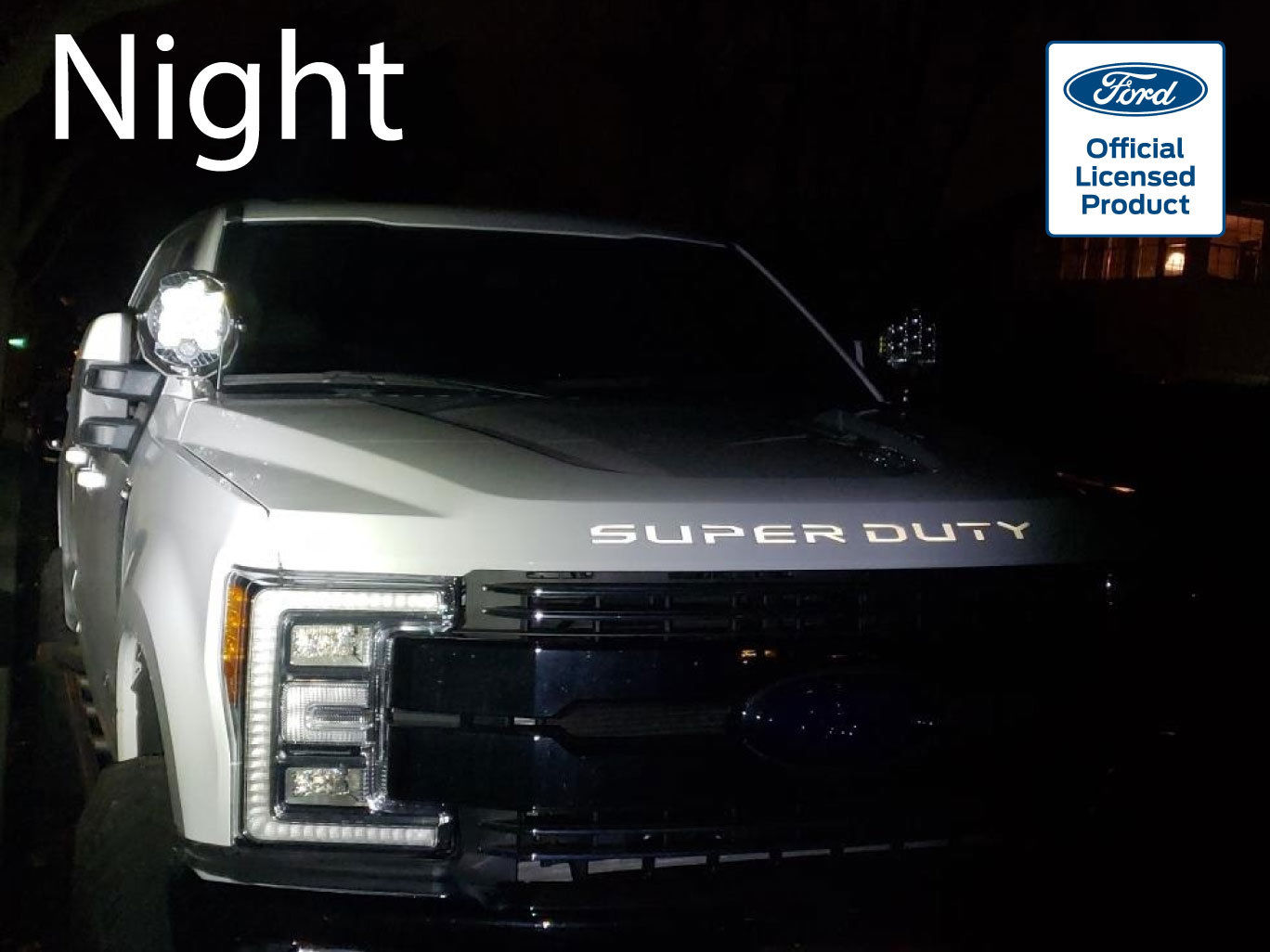 2017-19 Ford Super Duty Reflective Hood Letters Vinyl Decals Inserts F250 F350 – 2
