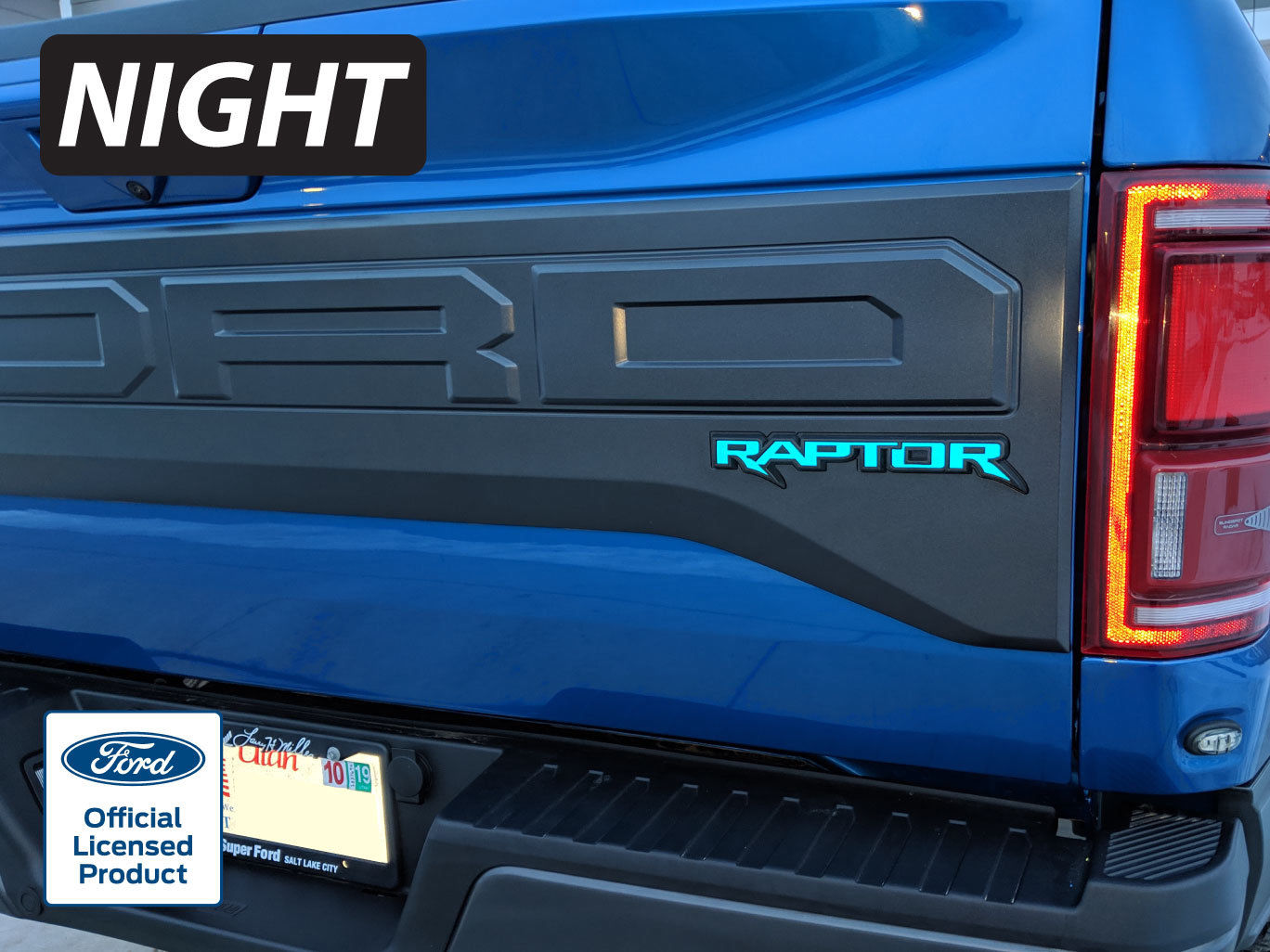 2017 2020 Ford Raptor Rear Emblem Reflective Inlay Decal Vinyl Graphics Stickers F150 Rocky Mountain Graphics