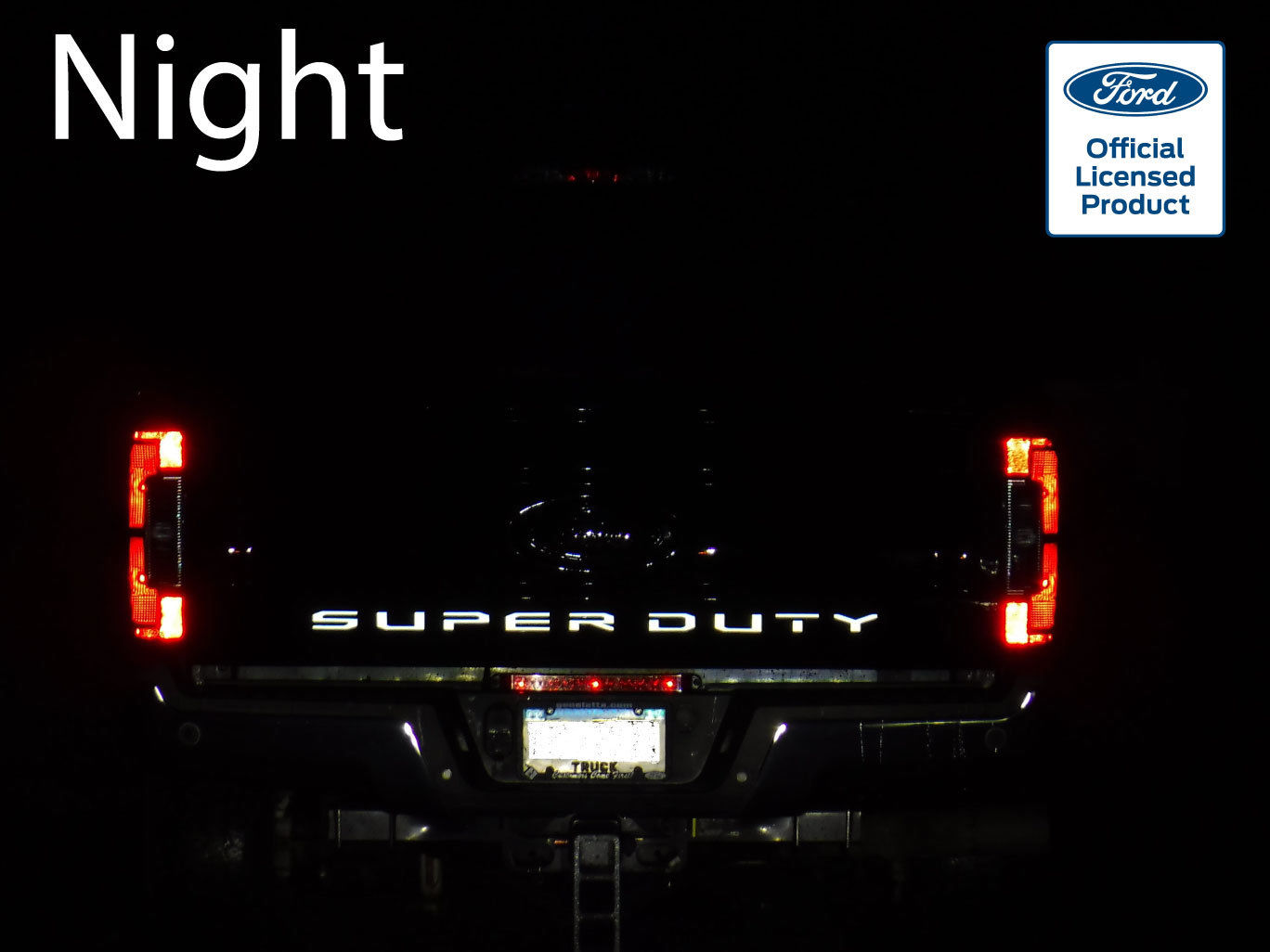 2017 Ford Super Duty Reflective Tailgate Letters Vinyl Decals F-250 F-350 F-450 – 1